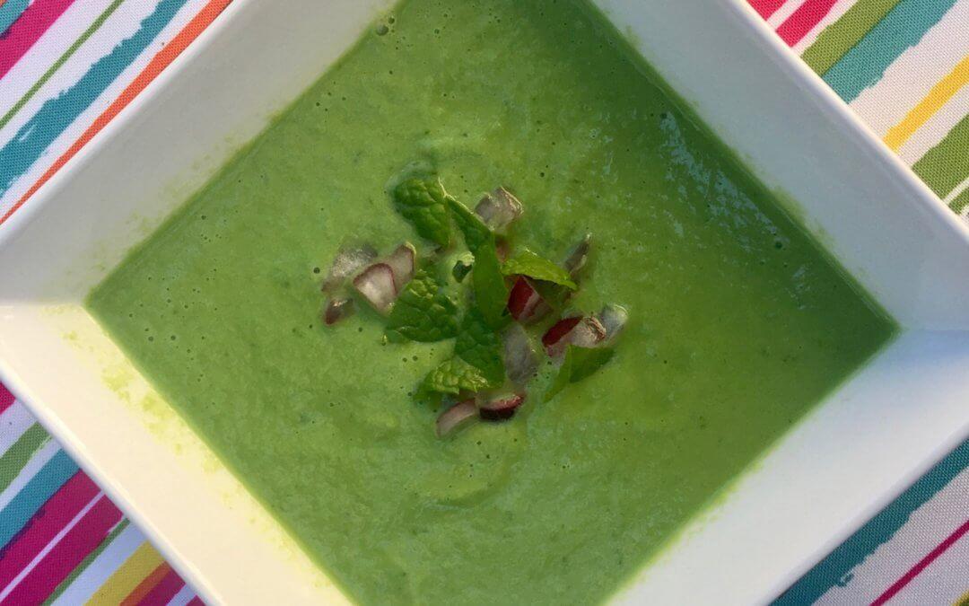 Cold Avocado Mint Soup